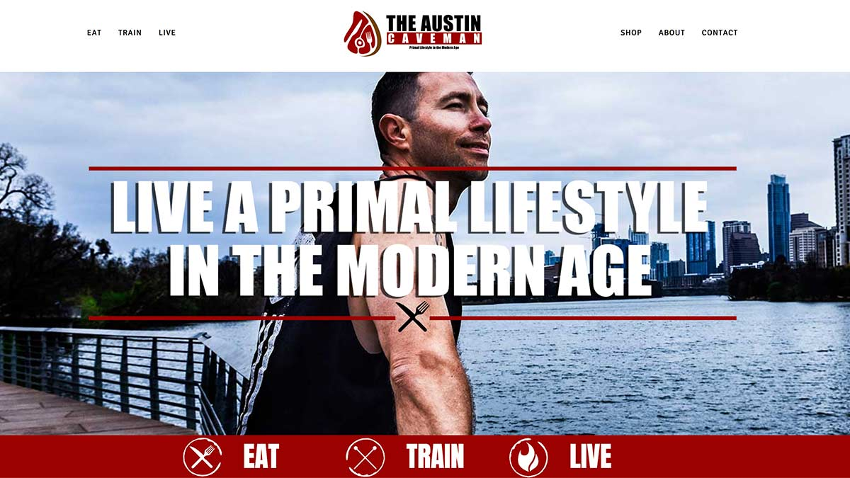 MegaMad Websites Launches The Austin Caveman Website